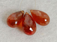 AA Hessonite Garnet Faceted Teardrop Briolette Gemstone Beads 007