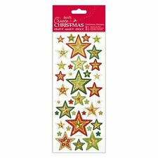 Docraft Papermania Foiled & Embossed Stickers - Christmas Stars for crafts