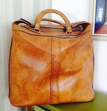 Vintage Faux Leather Overnight/shopper Bag