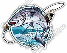 "Fly Fishing Tight Lines Fisherman Car Bumper Window Vinyl Sticker Decal 5""X4"""