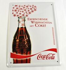 Coca-Cola Coke Germany 21 cm sheet Metal Sign Tin sign motif: Bottle