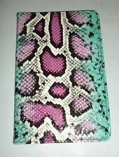 PINK & TEAL MULTI-COLOR FAUX SNAKE SKIN COVER HARDBACK RULED JOURNAL