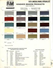 1979 LINCOLN MARK VERSAILLES PAINT CHIPS (R-M)