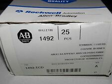 LOT OF 25 NEW ALLEN BRADLEY 1492-TCD TERMINAL COVER FOR TERMINAL BLOCK