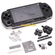 for PSP 3000 Slim Full Housing Shell Case repair parts door screw button black