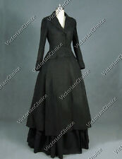 Gothic Black Victorian Dress Edwardian Coat Theater Steampunk Clothing C002 M