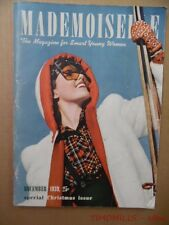 1939 MADEMOISELLE The Magazine for Smart Young Women December Fashion Christmas
