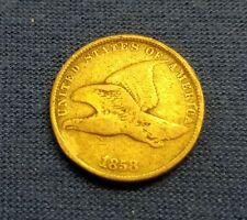 1858 Flying Eagle SL One Cent -XTRA NICE- US Coin lots of detail look at pics!!