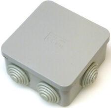5x Plaza 80mm X 80mm X 40mm Caja caja de conexiones de arandelas de conexión IP44