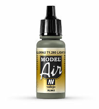 Vallejo Model AIr Light Grey RLM63 , 71.260 17ml Acrylic Airbrush Paint