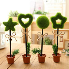 Novelty Green Grass Flower Pot Ballpoint Ballpoint Writing Pens Stationery Gift