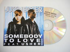 JUSTIN BIEBER : SOMEBODY TO LOVE feat. USHER [ FRENCH CD SINGLE PROMO ]