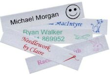 50 SATIN Iron-on School Name Tapes Name Tags Labels