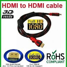 Gold HDMI v1.4 Male to Male Cable 1.5 m LCD Plasma DVD TV PS3 Full HD (N-1004)