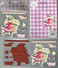 PANDA/FAIRY/HEART BORDER/ WORDS LITTLE PRINCESS CLING STAMPS 'TIA' -  7 STAMPS