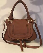 Chloe 'Medium Marcie' Leather Satchel Brown