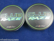 CLUB RAZE NEW!!! BLACK/ LIME GREEN  CUSTOM WHEEL CENTER CAP #DC0202   (2)