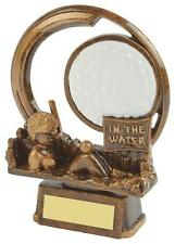 """In The Water Comedy Golf Trophy,Award,150mm (6"""") FREE Engraving (RS656)"""
