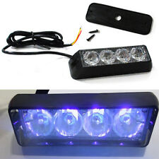 Blue 4 LED Car Truck Strobe Flash Light 8 Flashing Modes
