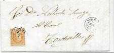España. Carta de Nava del Rey a Tordesilla con sello de 4 ctos. Edifil 52