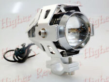 U5 CREE LED 15W Projector Lens Auxiliary Fog Light For Bajaj Avenger Silver