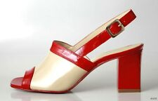 new $495 new MARC JACOBS red/tan slingbacks heels Shoes - RED sole 36.5 - 6.5