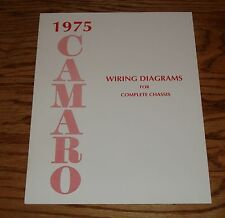 1975 Chevrolet Camaro Wiring Diagram Manual for Complete Chassis 75 Chevy