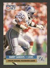 1991 Pro Set #10 Barry Sanders Detroit Lions 1990 NFL Rushing,TD Leader NRMT