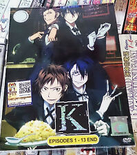 K PROJECT ANIMATION The Complete TV Series Ep.1 - 13 End DVD Collection Box Set