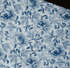 Laura Ashley Lorelei NAVY BLUE Rose QUEEN SHEET SET Floral Shabby Cottage COTTON