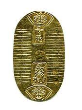 GOLD MAN-EI KOBAN KIN Japan Old coin EDO SAMURAI (1860 - 1867)