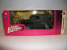 JOHNNY LIGHTNING 1932 FORD SEDAN DELIVERY~BLK FLAMES ON GRAY~MIB~1.24 free ship