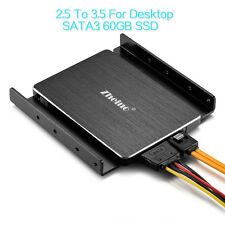 Zheino 3.5 inch 60GB SATA SSD For Desktop 2.5 SATA SSD To 3.5 and Mounting Frame