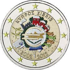 Zypern 2 Euro 2012 bfr. 10 Jahre Euro Bargeld in Farbe