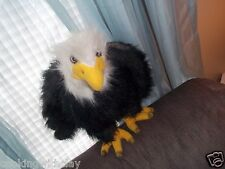 REALISTIC NATIONAL BIRD USA PLUSH DOLL FIGURE MAJESTIC AMERICAN BALD EAGLE TOY