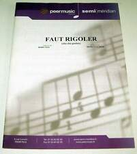 Partition sheet music BORIS VIAN / HENRI SALVADOR : Faut Rigoler * EX