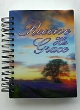 Notebook  Spiral Journal 3D Lenticular 200 ct Receive His Grace Stationery  103