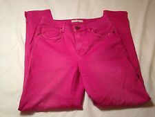 Womens Les Folles de Joie Skinny Jeans 27 Distressed Look Great Color in EUC!!