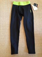 Reebok black core base layer compression tight pants playwarm warm XS 6-8
