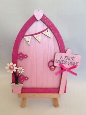 Magical Hand Painted Pink Fairy / Tooth Fairy Door