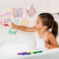 6 Hora Del Baño Lápices de colores,Edad 3 + Dibujar Juguete No Tóxico Lavable