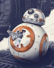 Chris Skinner 'Finn's Buddy' BB-8 Star Wars Screen Print, Mondo Artist, FREE PIN