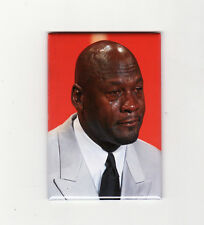 CRYING MICHAEL JORDAN MEME - FRIDGE MAGNET (nike air chicago costacos poster sad