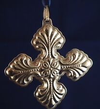 "Vintage 1995 25th Sterling Silver Reed and Barton ""Christmas Cross"" Ornament"