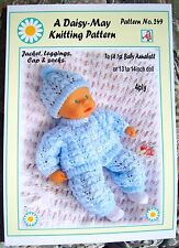 1 poupées knitting pattern to fit 1st baby annabell doll 13/14ins nº 249
