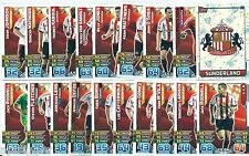 2015 / 2016 EPL Match Attax SUNDERLAND Master Set (61 Cards)