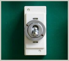 TOGGLE DOLLY SWITCH 10amp 20amp 2 WAY POLISHED CHROME or BRASS or SATIN CHROME