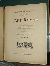 L'art Roman 40 planches Paul LÉON  ca. 1920