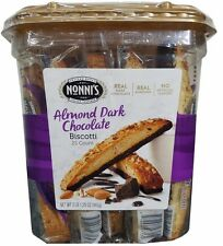 Nonni's Almond Dark Chocolate Biscotti 25 Count Large Jar 2lb 1.25oz