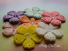 Large Felt Layered Flowers (5) Die Cut Floral Craft Embellishments